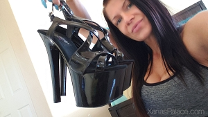 Xana's Black Stripper Heels