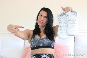 Xana's White Puma Tennis Shoes