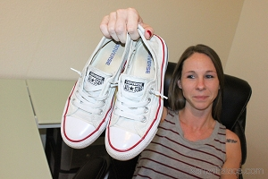 Chasity's White Slip-On Chucks