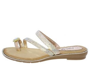 Champagne Toe Ring Sandals