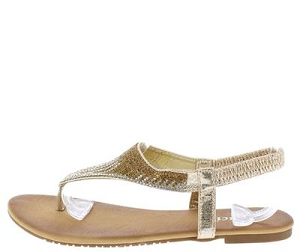Gold Sparkle Thong Sandals