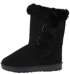Black Fur-Lined Ankle Boots