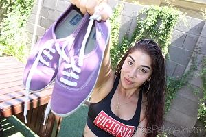 Highness's Purple Tennis Shoes