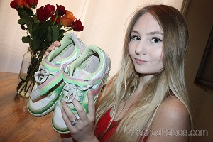 Melody's Pastel Nike Tennis Shoes