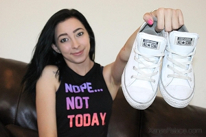 Tiana's White Leather All-Stars Chucks
