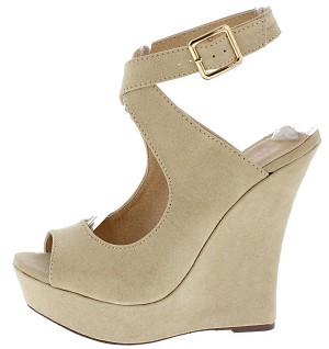 Nude Suede Wedges